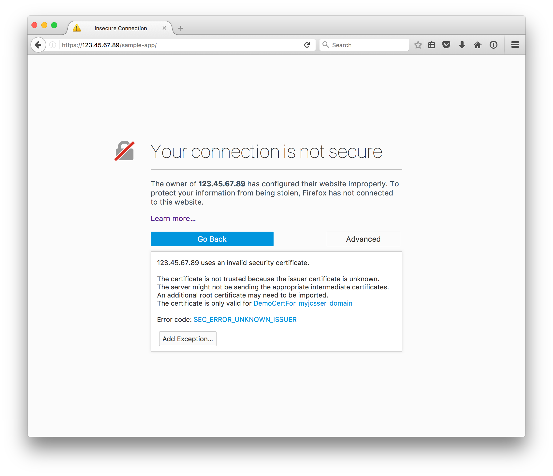 Install a ssl certificate directly onto java cloud service like if this is just a prototype server maybe youre alright with clicking through and telling the browser that things are safe putting up with the red line 1betcityfo Images