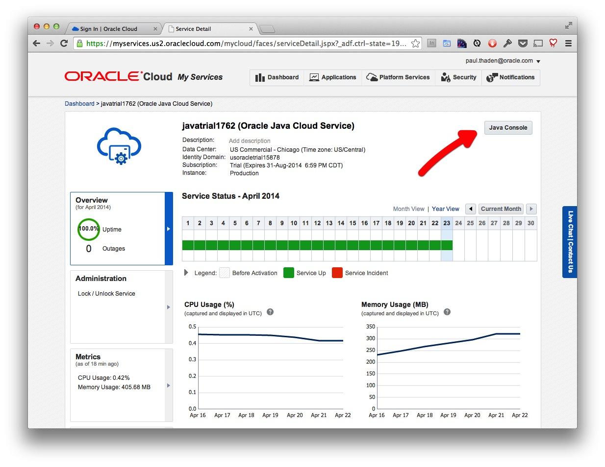How I got Started on Oracle Java Cloud — Like A House Afire